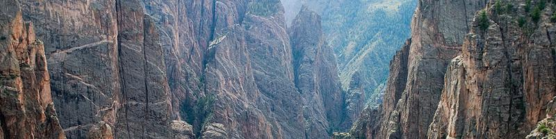 Black Canyon of the Gunnison, 20 miles away