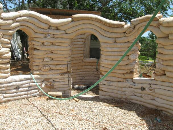 Austin Earthbag Dome House 2009