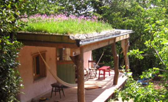 natural building earthbag straw cob wattle wall and living roof
